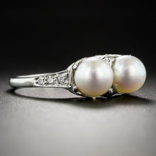 Vintage Twin Pearl Ring