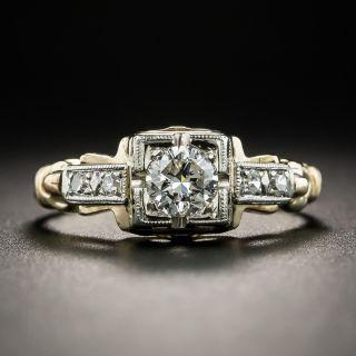 Vintage Two-Tone .30 Carat Diamond Engagement Ring - 1
