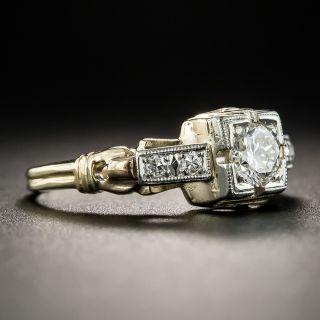 Vintage Two-Tone .30 Carat Diamond Engagement Ring