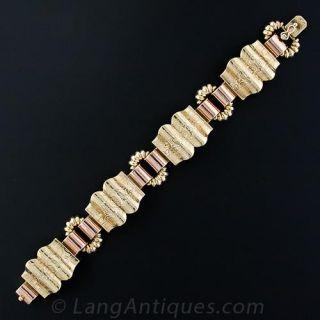Vintage Two-Tone Gold Bracelet - 4