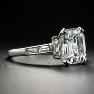 Vintage Van Cleef and Arpels 2.48 Carat Emerald Cut Diamond Ring - GIA D VVS2