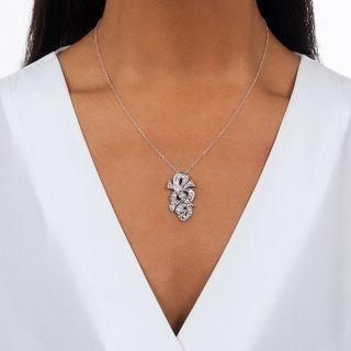 Diamond Treble Clef Pendant