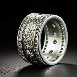 Estate Diamond Engraved Wedding Band, SIze 5 1/2 - 2