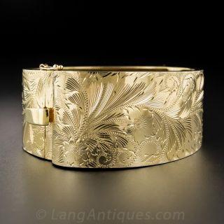 Wide Vintage Bangle Bracelet