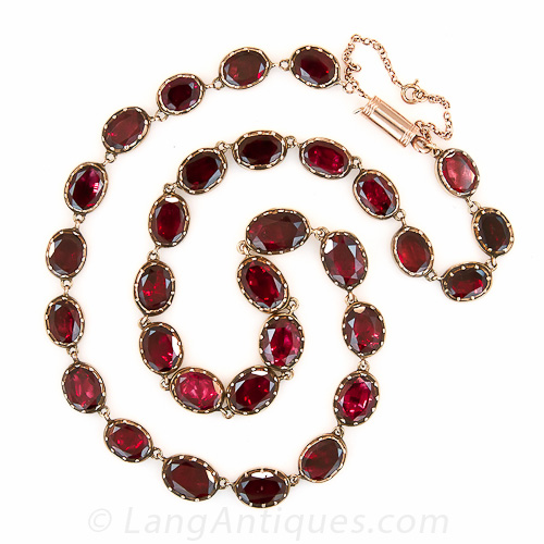 Early English Antique Garnet Necklace