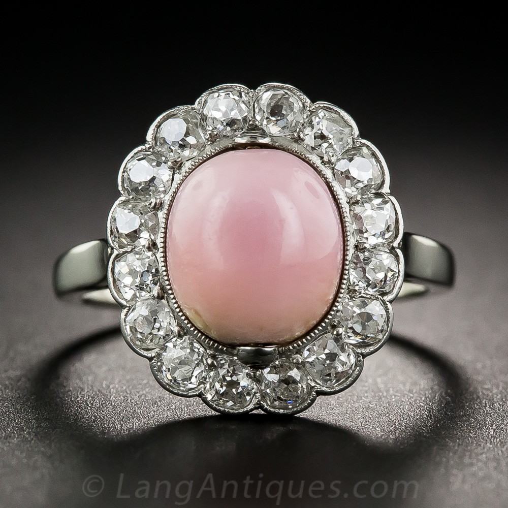 edwardian ring diamond fetheray heavenly pearls engagement and pearl vintage antique products