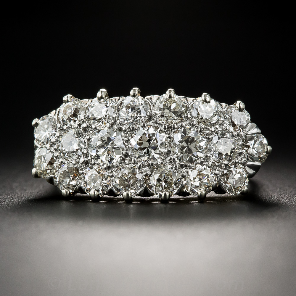 Cluster Bands: Edwardian Diamond Cluster Band Ring
