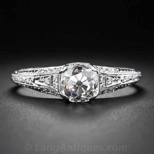 heart edwardian settings engagement ring rings
