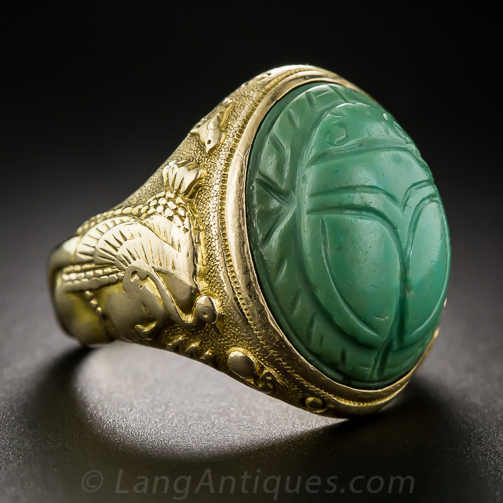 Egyptian Revival Scarab Ring