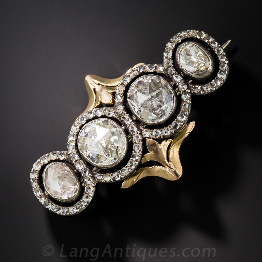 Square Rose Cut Diamond Ring