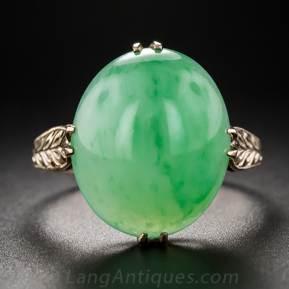 Natural Burma Jade Ring Vintage Jewelry