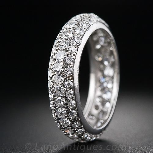 french yellow eternity diamond bands wb pave pav in band