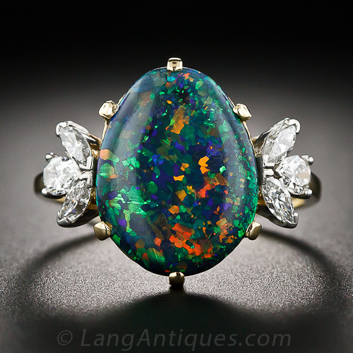 Value Of Opal And Diamond Ring