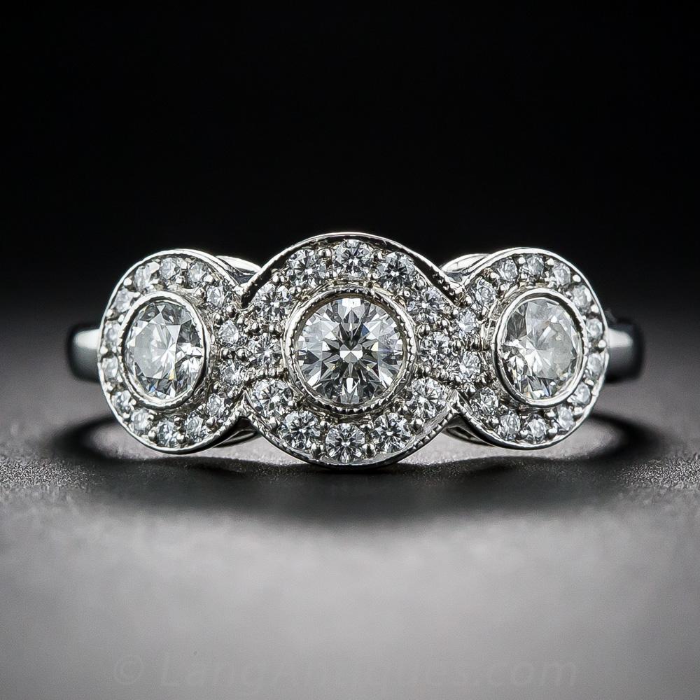 Tiffany And Co Platinum Three Stone Circlet Diamond Ring