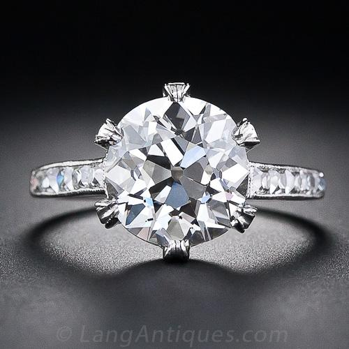 Tiffany Amp Co 3 88 Carat Antique Diamond Ring