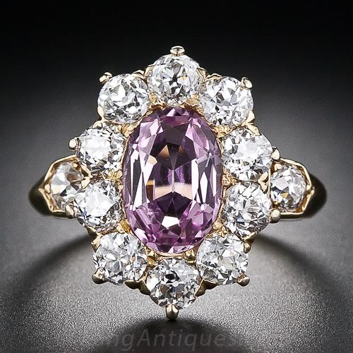 Tiffany Amp Co Antique Pink Topaz And Diamond Ring