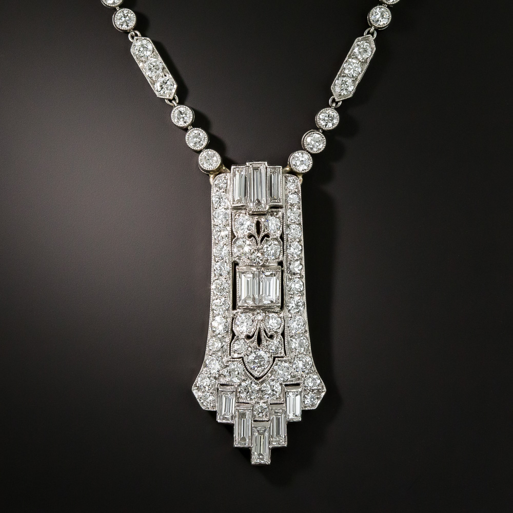 Tiffany Amp Co Art Deco Platinum Diamond Lavali 232 Re Necklace