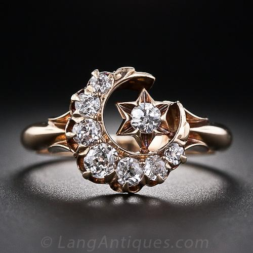 engagement f half rings setting shop diamond moon ring