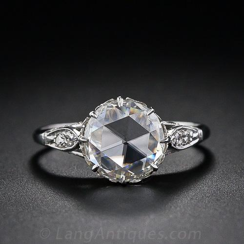 Vintage Rose Cut Diamond Solitaire