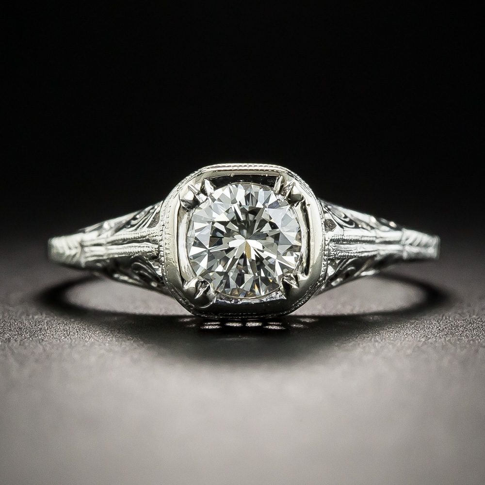 vintage inspired wedding rings vintage style 53 carat solitaire engagement ring 8284