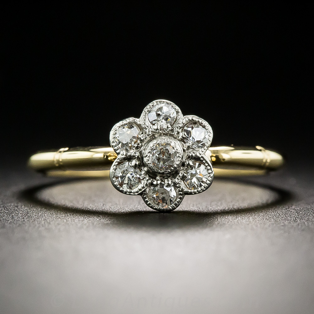 Vintage Style Diamond Cluster Ring Gifts Vintage Jewelry