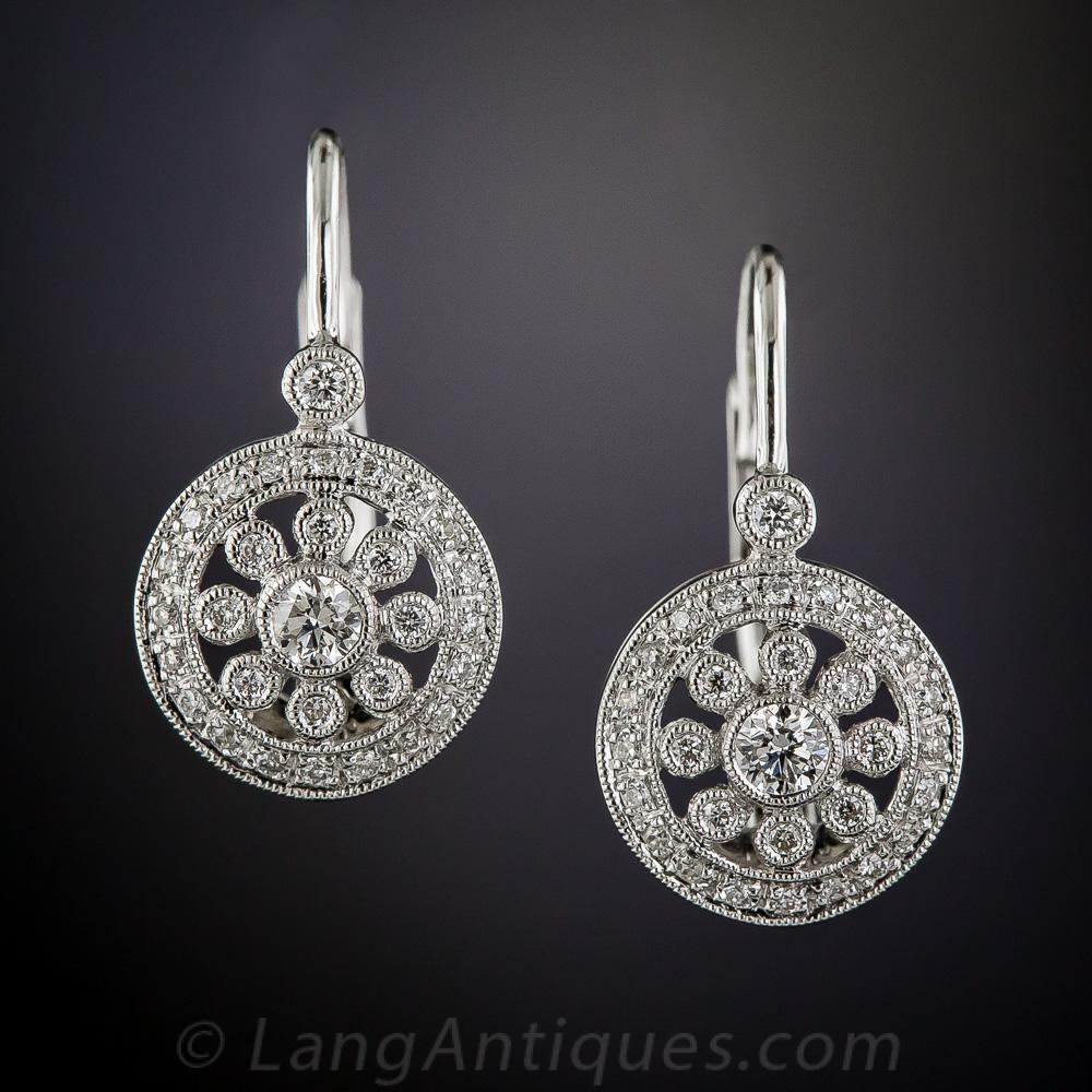 Vintage Style Earrings: Vintage Style Diamond Earrings