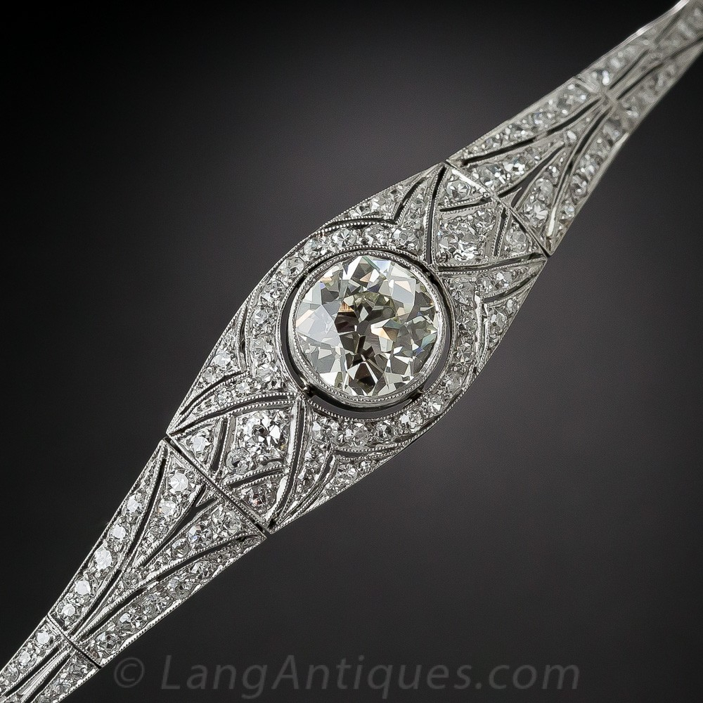 Edwardian/Early Art Deco Platinum and Diamond Bracelet