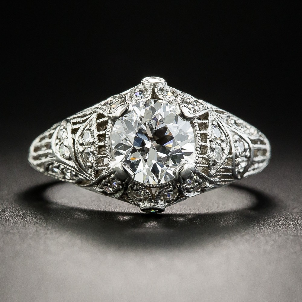 Edwardian Diamond and Platinum Engagement Ring