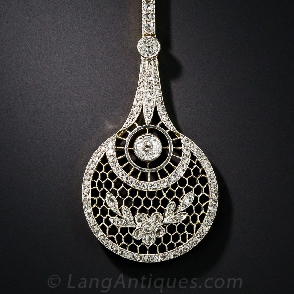 Long Edwardian Diamond Lavaliere