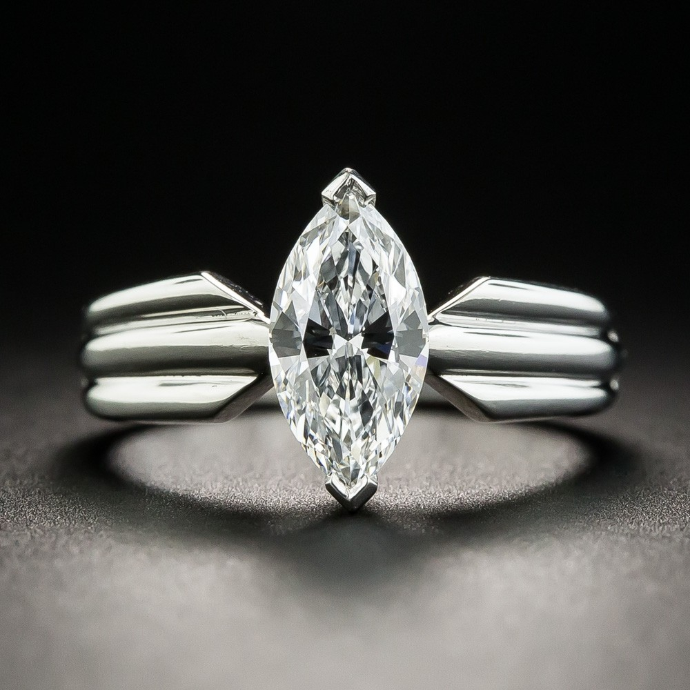 Cartier 1.10 Carat Marquise Diamond Engagement Ring