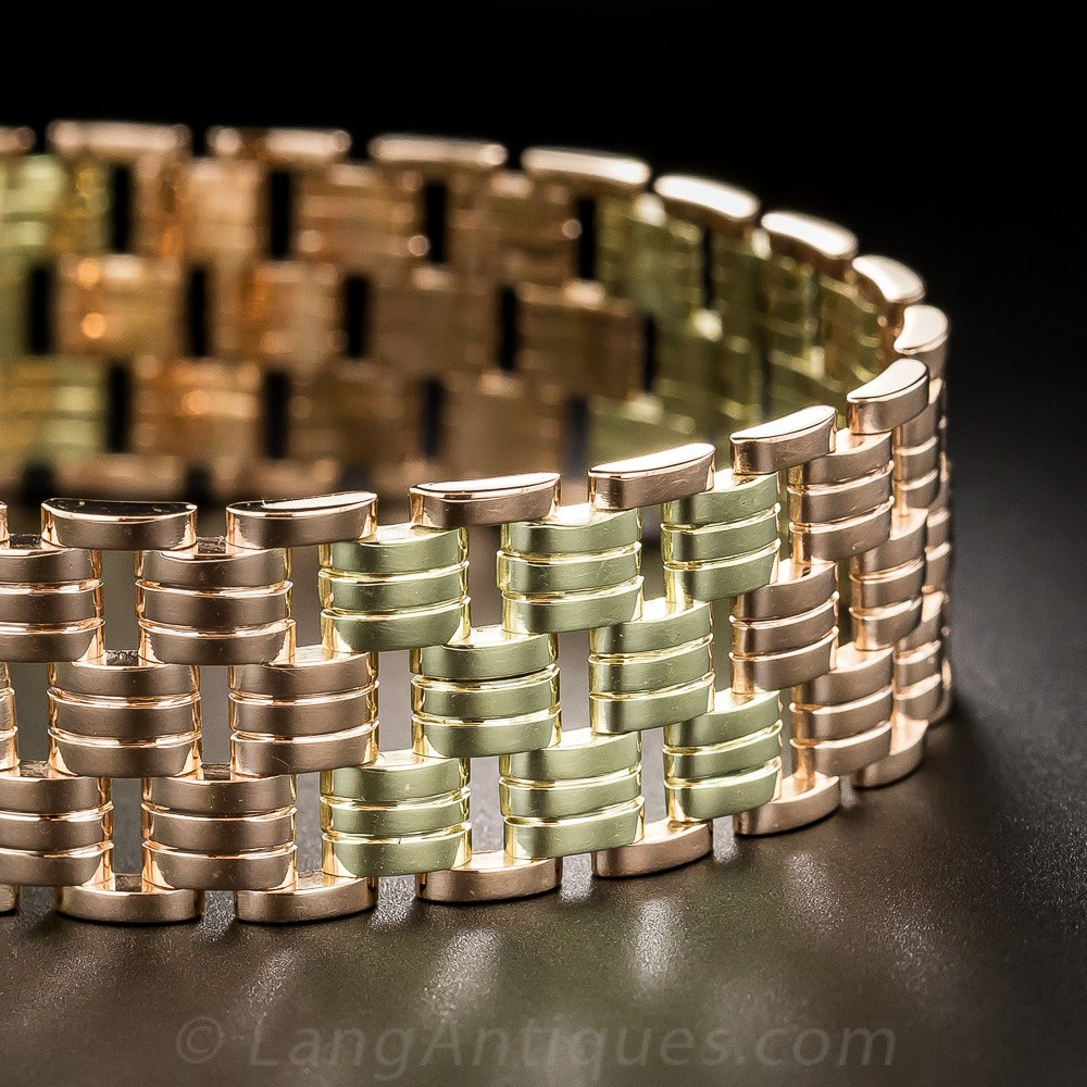 Tiffany & Co Two-Tone Gold Retro Bracelet