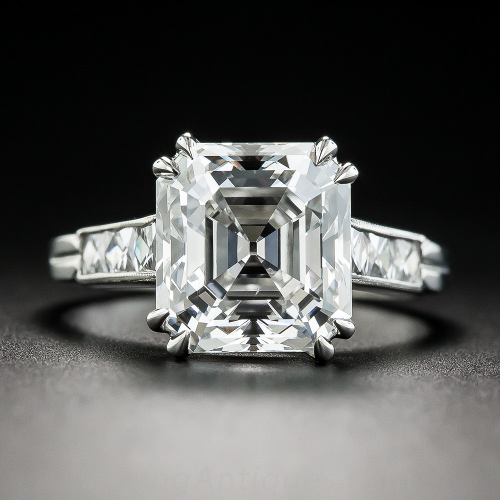 4.71 Carat Asscher-Cut Diamond Ring