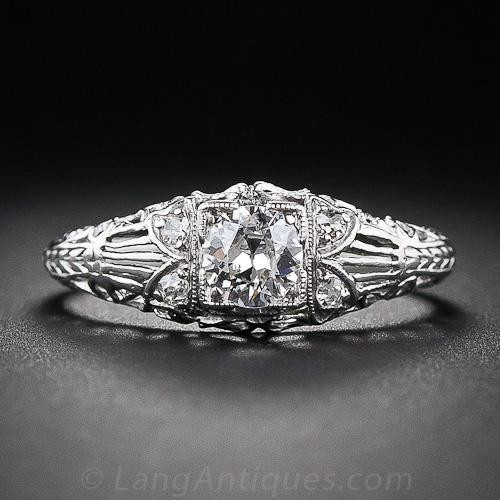 .40 Carat Edwardian Diamond Engagement Ring
