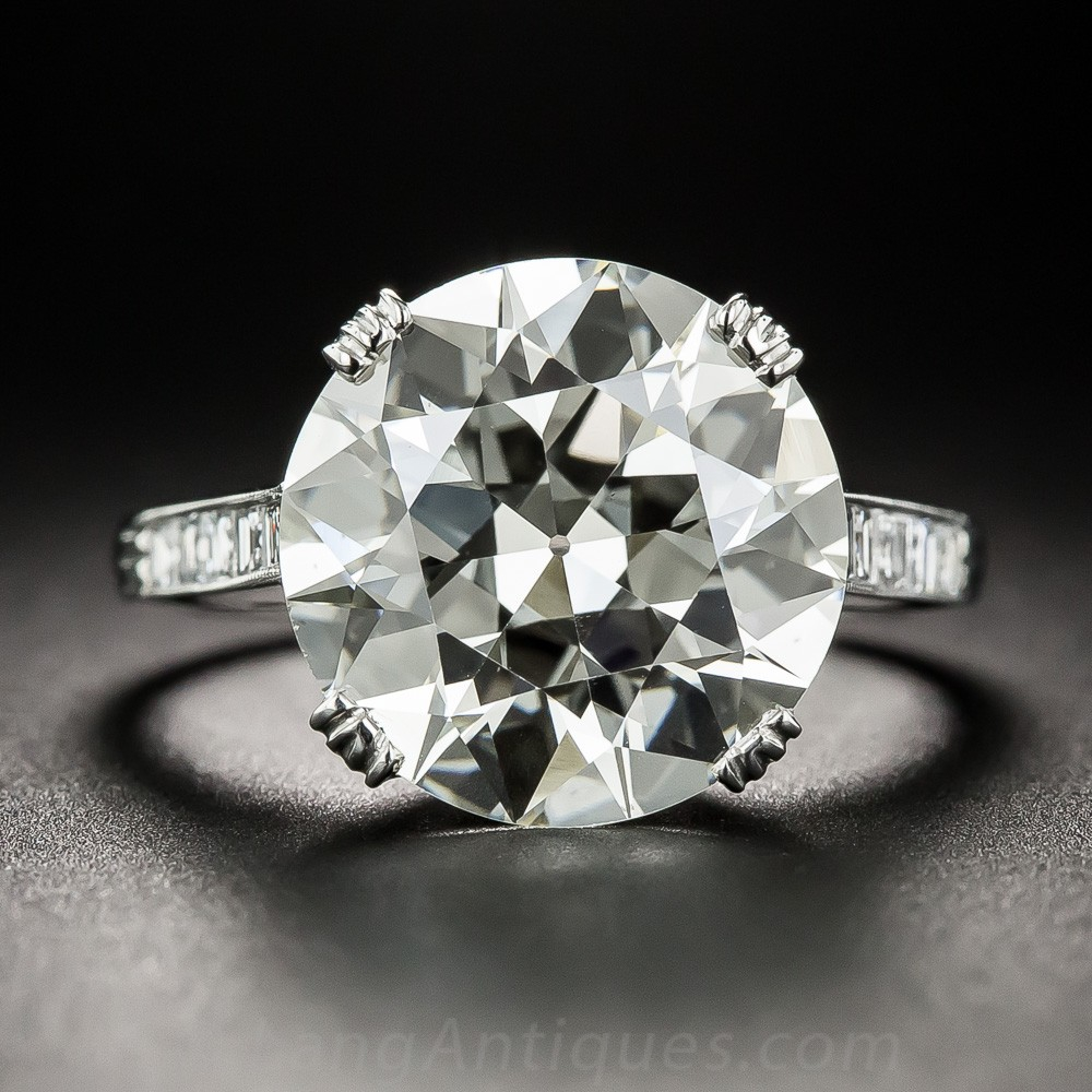 6.78 Carat European-Cut Diamond