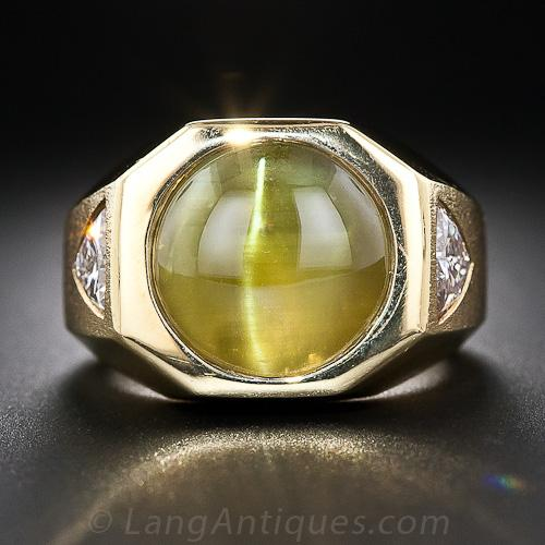 in eye s diamonds rings with chrysoberyl cats ring platinum dia carats cat natural plat set