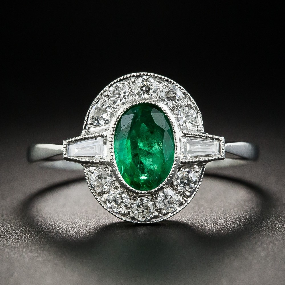 Vintage Colored Stone Engagement Rings