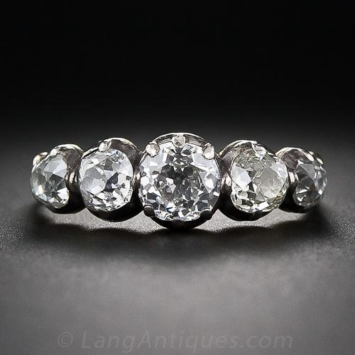 Georgian five stone diamond engagement ring