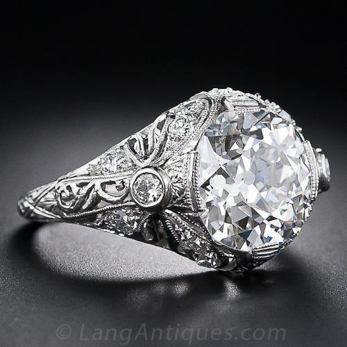 Edwardian European cut engagement ring