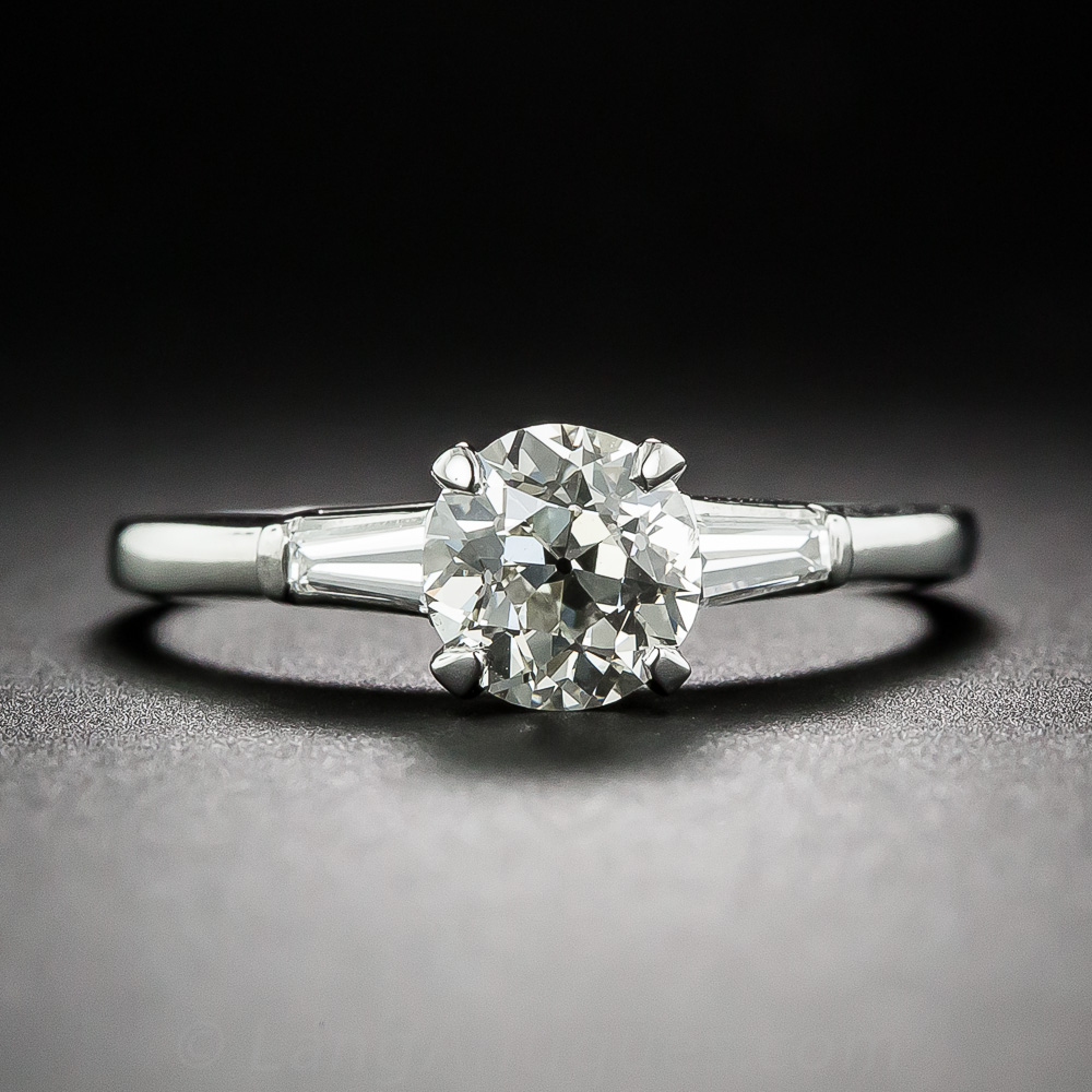 Mid-Century diamond engagement ring