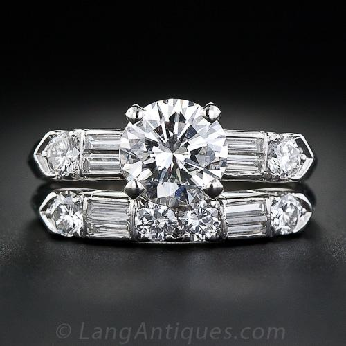 Mid-Century engagement rings