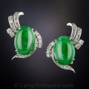 Jadeite Ear Clips