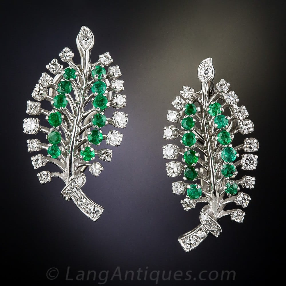 Fifties Emerald Leaf Earrings.jpg