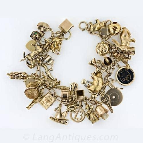 Fifties_Gold_Charm_Bracelet