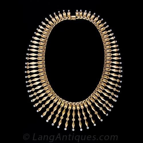 Fifties Gold Fringe Necklace.jpg