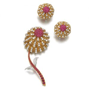 Picciotti Ruby and Diamond Demi Parure
