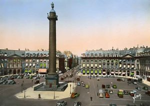 Postcard of Place Vendôme, Paris c.1950.