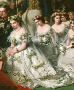 Nuptials of Princess Victoria and Prince Frederick William of Prussia, 1858.