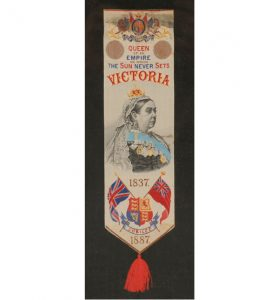 Diamond Jubilee Commemorative Ribbon, 1887.
