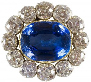 Queen Victoria's Sapphire and Diamond Wedding Brooch, a gift from Albert.