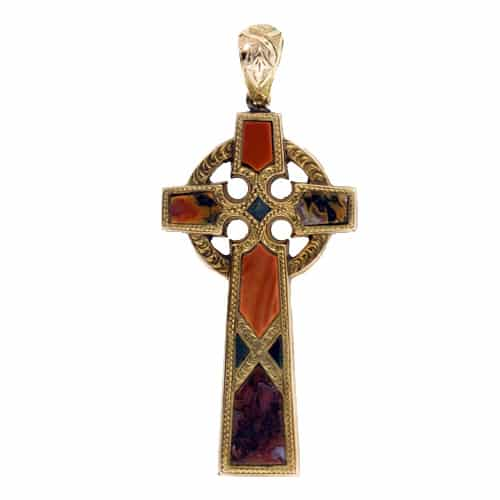 Victorian Scottish Agate Cross.